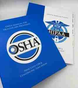 OSHA Manual for Healthcare Providers and HIPAA for Healthcare Providers bundle